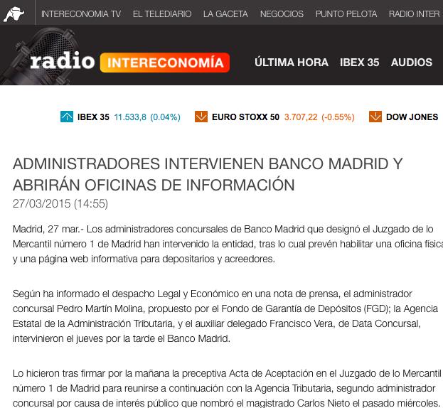 Banco madrid oficinas segn ha explicado la entidad en un for Oficinas de banco financiero